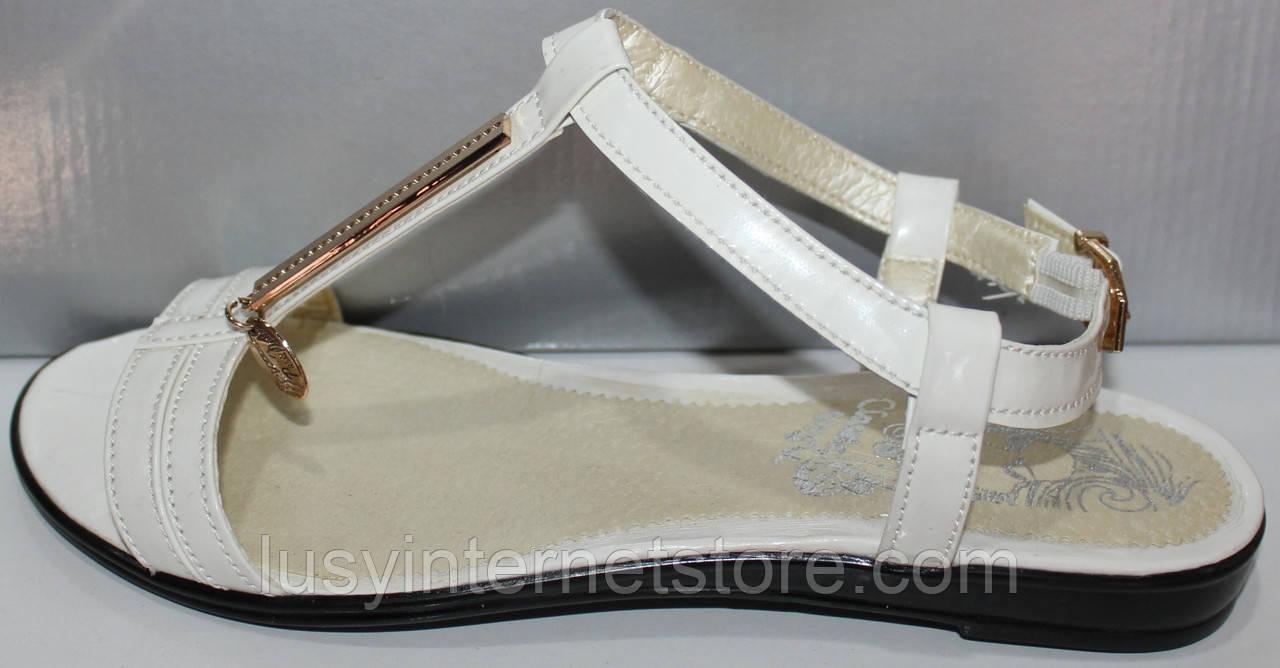 Босоножки белые летние кожаные женские от производителя модель КЛ07236-1