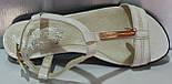 Босоножки белые летние кожаные женские от производителя модель КЛ07236-1, фото 3