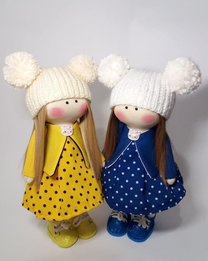 Ляльки-сестрички текстильні