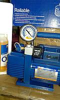 Вакуумный насос VALUE NEW VI 120- SV (1х ступ. 51 л/мин) с манометром, фото 1