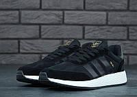 Мужские кроссовки Adidas Iniki Black топ-реплика, фото 1