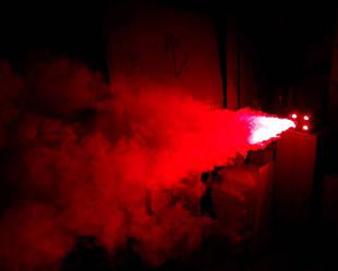 Дым машина - генератор спецэффекта дым с LED подсветкой 4 цвета RGB(W) 400 Вт, пультом ДУ и кнопкой Dzyga