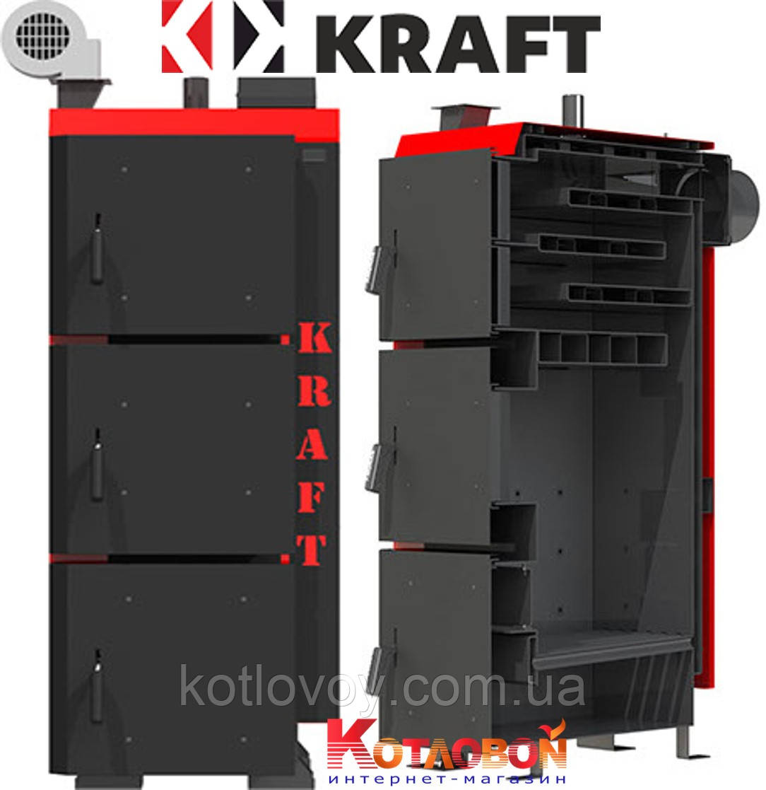 Твердопаливний котел тривалого горіння KRAFT (Крафт) L