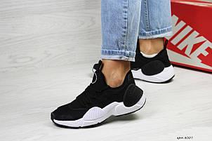 Женские черно-белые кроссовки Nike Air Huarache E.D.G.E, сетка , фото 2