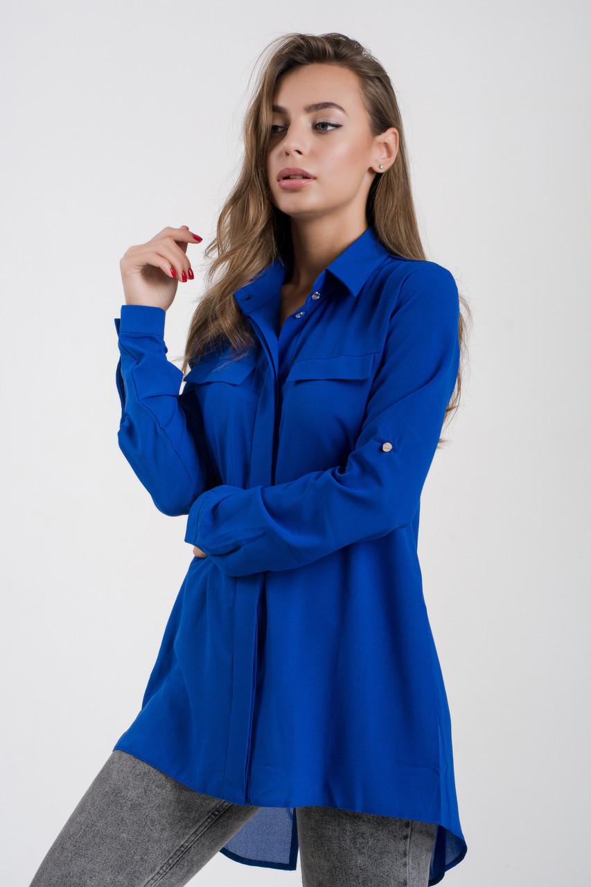 Блузка K&ML 481 синий 44