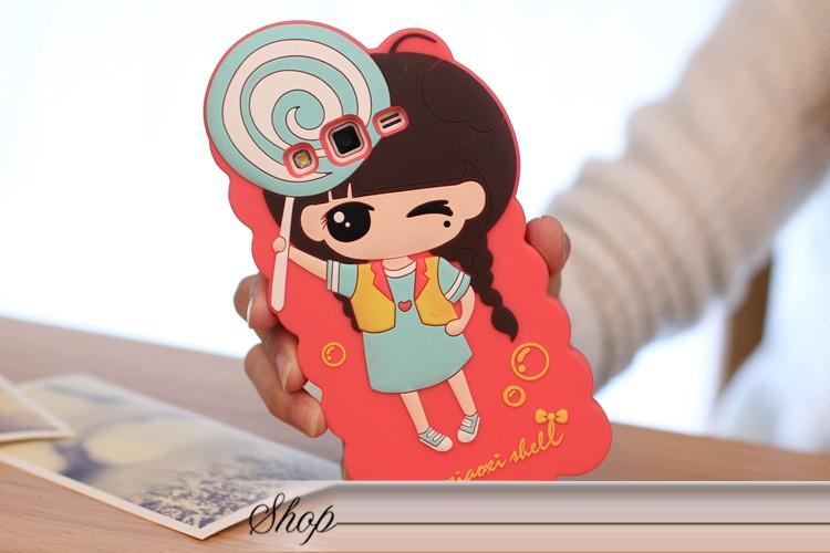 """Samsung G7102 GRAND 2 противоударный TPU силиконовый 3D чехол бампер для телефона """"GERLS FABRIC CANDY"""""""