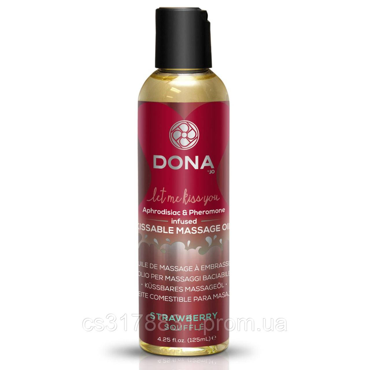 Массажное масло DONA Kissable Massage Oil Strawberry Souffle (110 мл)