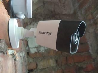 Монтаж відеокамер 5мп Hikvision 4