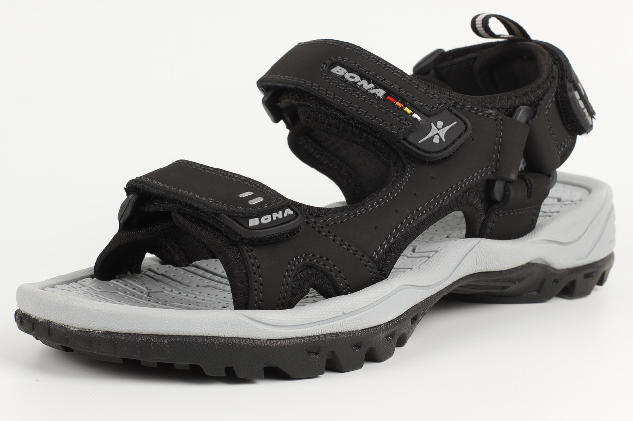 Сандалии босоножки унисекс подростковые кожаные черные Bona 712D-2 Бона Размеры 36 39 41