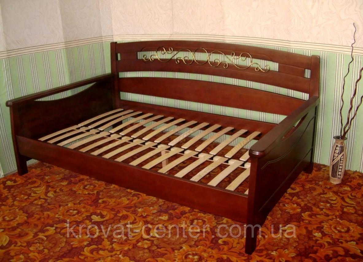 """Деревянная полуторная кровать  """"Премиум"""""""