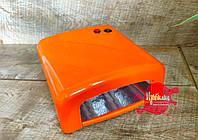 УФ лампа для ногтей 36 Вт, оранжевая, фото 1