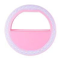 Кольцо для селфи Selfie Ring light розовый