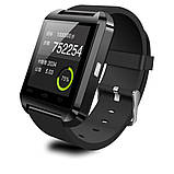 Смарт-часы Smart Watch U8 Bluetooth, камера, плеер, шагомер, whatsApp, фейсбук Black, фото 3