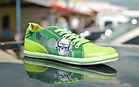 """Кеды """"Мысли"""" IK-528 (зеленый), фото 1"""