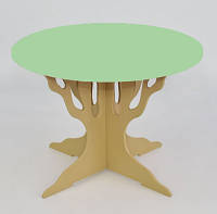 """Стол """"Мася"""" (ножка в форме дерева круг салатовый) Бамсик /1/(5110)"""