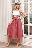 Летняя расклешенная юбка-полусолнце розовая, фото 2