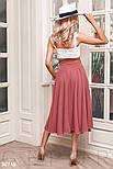Летняя расклешенная юбка-полусолнце розовая, фото 4