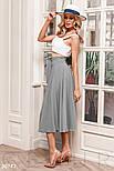 Річна розкльошена спідниця-полусолнце сіра, фото 2