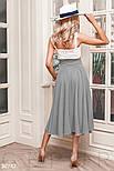 Річна розкльошена спідниця-полусолнце сіра, фото 3
