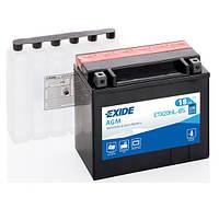 Аккумулятор мото EXIDE B/O 12V 18AH 270A YTX20HL-BS/ETX20HL-BS [175X87X155]