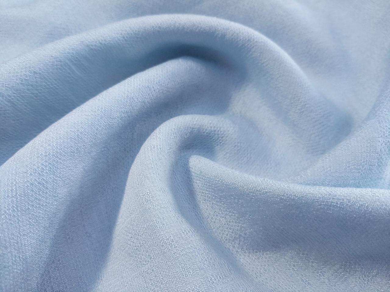 Штапель нейлон креш, бледно-голубой