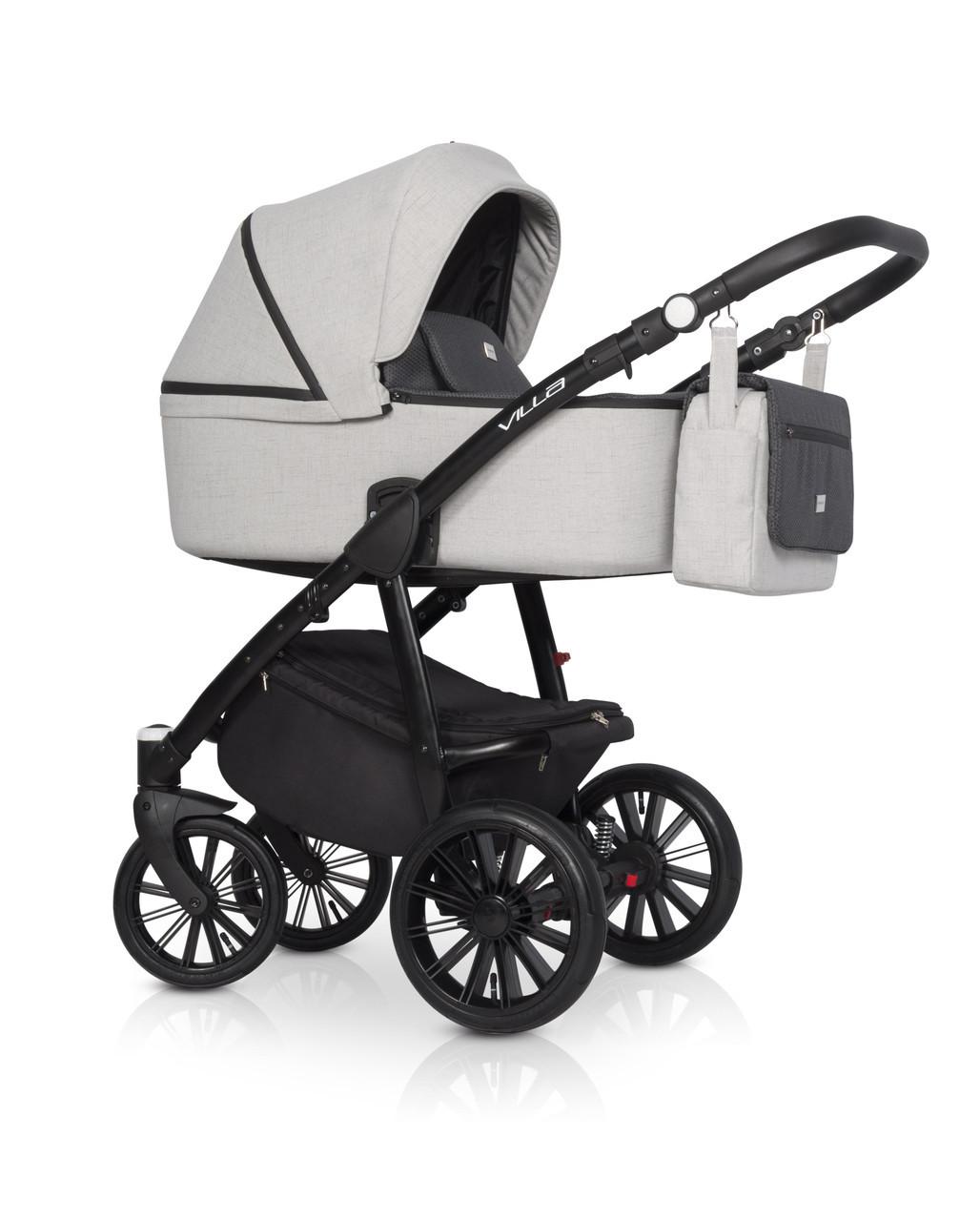 Детская универсальная коляска 2 в 1 Riko Villa 03 Titanium