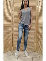 Стильные женские джинсы AMN с декором . Турция