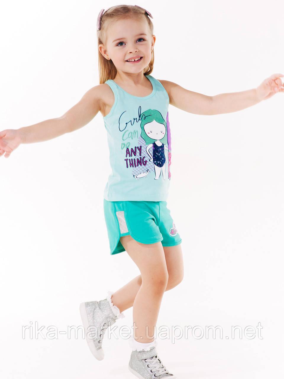 Майка для девочки ТМ Смил арт. 110511, возраст от 4 до 6 лет