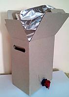 Картонная коробка с пакетом на 5 литров
