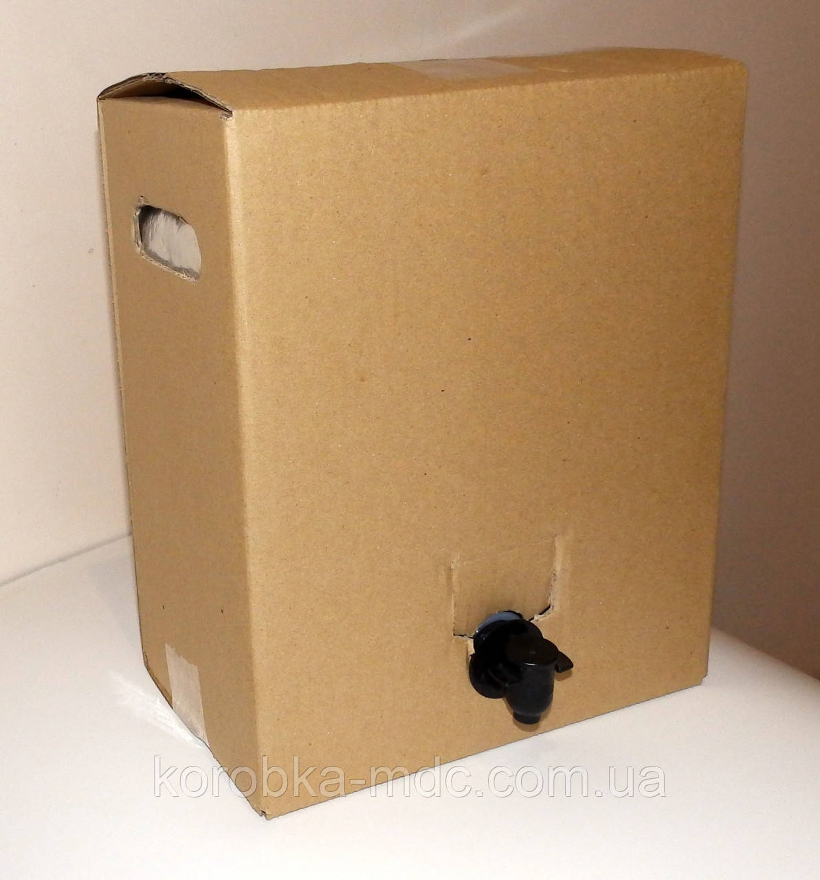 Коробка с пакетом 10 литров без печати