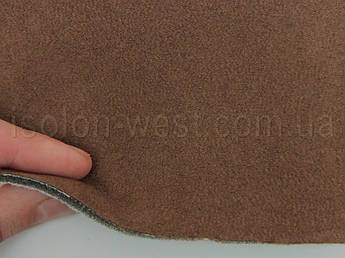 Ткань Antara (аналог Алькантары), цвет коричневый, на поролоне и сетке