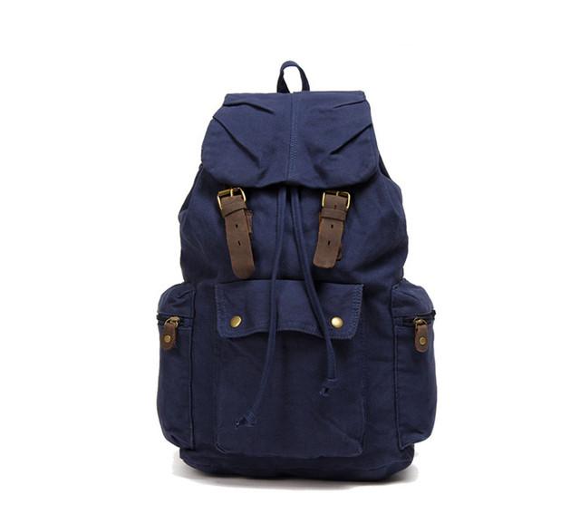 Синий рюкзак вид спереди