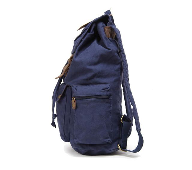 Синий рюкзак вид сбоку
