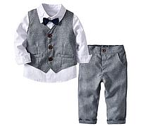 Стильний комплект - трійка / костюм для мальчиков для свадьбы официальная Вечеринка одежда из хлопка