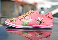 """Кеды """"две пчелы"""" IK-505 (коралл), фото 1"""