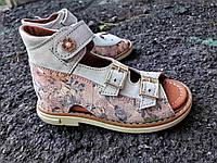 Кожаные босоножки для девочек VIKRAM.ORTO разноцветные с 31р по 36р