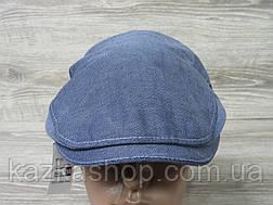 Мужская кепка уточка, пятиклинка, джинсового цвета, однотонная, сезон весна-лето, размеры 56-60 см, фото 2