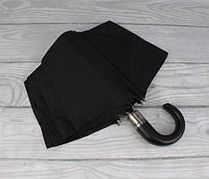 Зонт-крюк мужской автомат черный Sponsa 8104