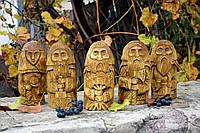 Статуетка-ідол словянських богів, вирізані з дерева, фото 1