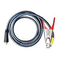 Комплект сварочного кабеля КГНВ (клемма массы 300А), 2м, сечение кабеля 16мм², разъм 10-25мм ПТ-3700