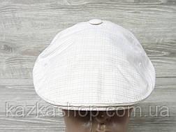 Мужская кепка уточка, пятиклинка, молочного цвета, однотонная, сезон весна-лето, размеры 56-60 см, фото 3