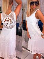 Женское длинное белое ажурное платье с кружевом ОРИГИНАЛ Польша MyLala