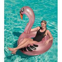 Надувной круг плотик Фламинго, 128см