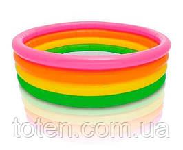 Бассейн детский надувной Intex 56441 пылающий закат, 4 кольца, 617 л, 2,63 кг