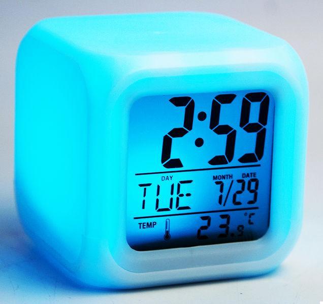 Годинники Будильник Хамелеон з Термометром (123291)