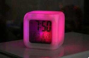 Годинники Будильник Хамелеон з Термометром (123291), фото 3