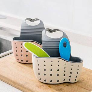 ПодВесыной корзину для кухонных губок (белый) (123322), фото 2