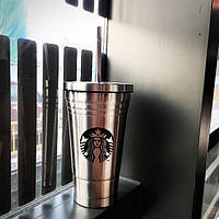 Стакан с крышкой и трубочкой Starbucks Reserve (Серебро) (123686)