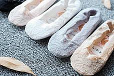 Кружевные тапочки носки (Серые) (123312), фото 3