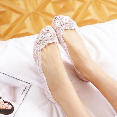 Кружевные тапочки носки (пудровыми) (123314)